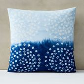 Our Tie-Dye Dots Pillow Cover's elegant, subdued look was inspired by the an…
