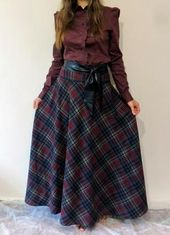 45dab2941c Vintage 70s // plaid maxi skirt // super long and flowy // xsmall small |  ART | Fashion, Plaid skirts, Skirts
