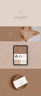 Premade Logo, Logo Design, Canva template,  Photography logo, Canva, Illustration, Branding