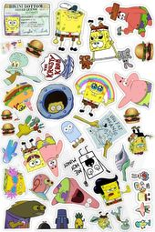SpongeBob Stickers_🖤 ___ SpongeBob Stickers_🖤 ___ Sponge … – Apple hin