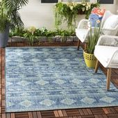 Union Rustic Nowak Navy Indoor/Outdoor Area Rug