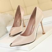 Spring Shoes 2019 Women Pumps Fashion Sexy High heels Sandals Wedding Party Metal Decoration …