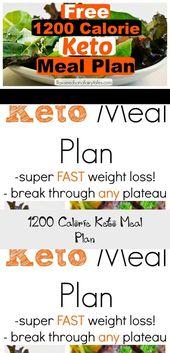 1200 Calorie Keto Meal Plan – Diet