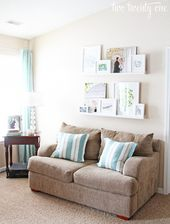 white picture ledges for above couch #remodelingbe…