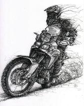 super skizze von honda africa twin – – automodelle – # sketch #super #from   – Lovely bikes