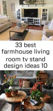 33 best farmhouse living room tv stand design ideas 10