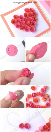 Rose Filled Heart Card