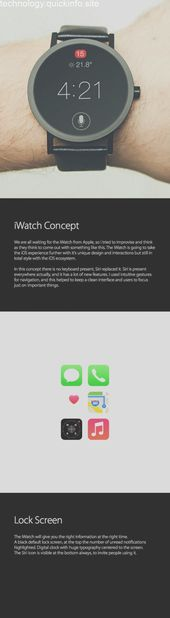 iWatch & Wearable iOS Concept by Luan Gjokaj via Behance #wearabledevices #weara… – Since electronic devices such as mobile phones, tablets and comp…