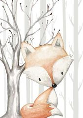Baby Cards Forest Animals Nursery Decor Prints Set of 4 A gorgeous set of 4 UNFRAMED prints...
