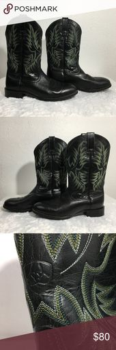 Ariat Men's Heritage Stockman Western Boots Black Old West bloodlines with fresh styling and high performance in a western boot that works hard. ATS…