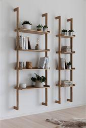 Regal Holz Regal Holz Wandregal Wohnzimmer Skandinavische Bucherregale