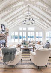 Fall Home Decor Tour – Navy and Rust – Home Decoraiton – wohnideen wohnzimmer