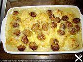 Cazuela de coliflor con bolas de salchicha y papas   – kochen
