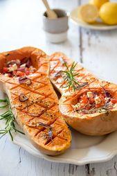 Mediterraner Butternut-Kürbis aus dem Ofen – Gemüse |Vegetables | Rezepte