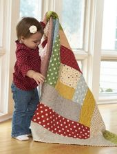 Giant Log Cabin Block quilt