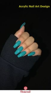 Long blue nails – cute