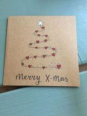 Einfache DIY Weihnachtskarte Ideen, die Sie in dieser Saison senden möchten   – Geschenke