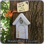 Fairy Garden, Fairy Door, Reclaimed wood, Distressed wood, Garden Decor, Girls R…   – Products