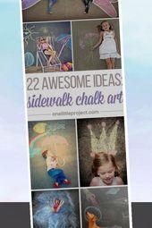CUTE – 22 Totally Awesome Sidewalk Chalk Ideas    – Chalk Art