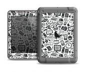 The Black & White Technology Icon Apple iPad Air LifeProof Nuud Case Skin Set
