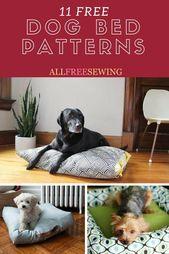 10 patrones de cama de perro gratis (patrones imprimibles y más)   – Nähen