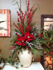 15 Ideen für Blumenarrangements zu Weihnachten