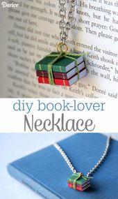 DIY-Projekte für Etsy machen und verkaufen – DIY Book Lover Halskette – lernen, wie man m – Schmuck selber machen – DIY
