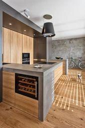 30 Beispiele für Betonküchen