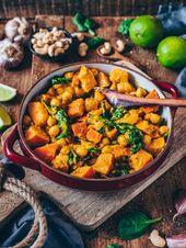 Pumpkin and chickpea curry (vegan, simple recipe)   – Vegetarisch