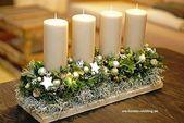 Weihnachtskerzen-Herzstück #Christmas #Christmasdecor #candles #centerpiece #d