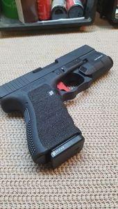 Glock19 Apex Flat Faced Trigger Hyve Mag Release Hyve Mag Plate G19 Inforce Aplc Diy Gunsmithing Diy Stippling Hand Guns Guns Bullet Guns