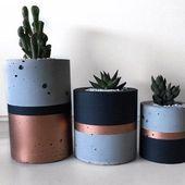 Wie man Zementvase macht: Schritt für Schritt Modelle und 20 schöne Inspirationen   – Concrete love