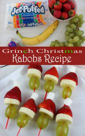 Grinch Christmas Kabobs