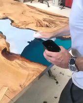 Stunning resin table
