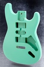 Double Cutaway Style Body Hsh Lightweight Paulownia Surf Green Fender Parts Body Vintage