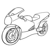 How To Draw Vehicles Motorcycles Bike Drawing Simple Bike Drawing Motorbike Drawing