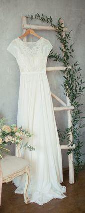 Boho Wedding Dress 'TEONA' / Bohemian Wedding Dre …