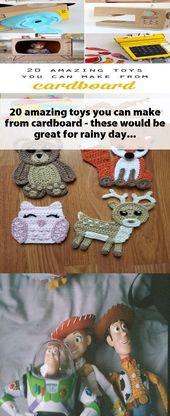 20 tolle Spielzeuge, die Sie aus Pappe herstellen können – das wäre großartig für einen regnerischen Tag …   – Toy
