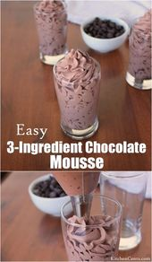 Diese einfache 3-Komponenten-Schokoladenmousse ist einfach perfekt und lecker. Zeitraum. ICH...