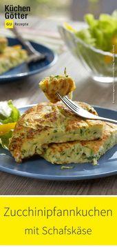 Zucchini pancakes with sheep's cheese   – Kochen