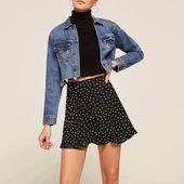 Vintage A Line Floral Prints Flounce Mini Skirt