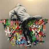 The street artist Martin Whatson combines art and graffiti on brilliant …   – London streetart