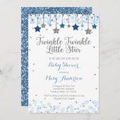 Baby Showers Twinkle Silver Twinkle Twinkle Little Star Baby Shower Invitation