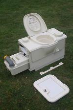 Thetford Cassette Toilet Electric Flush Cream Rh Caravan Campervan In 2020 Met Afbeeldingen Caravan Toilet