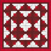 LOG CABIN quilt with the pattern that I want to ma…