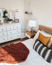 #bedroom #bedroomdecor #bedroomstyle #apartmentbedroom #rustthrowblanket