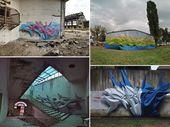 3D Graffiti and Paintings by Peeta   – Graffiti