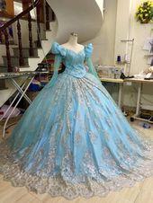 Sparkly Ariel Princess dress – Disney Princess – Little mermaid dress – Blue