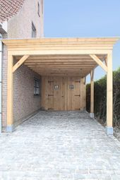 Holzcarport Mit Lagerung In 2020 Carport Holz Carport Modern Carport