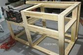 Free Desk Noticed Workbench with Wooden Storage plans. Easy, compact woodworking undertaking with storage…..